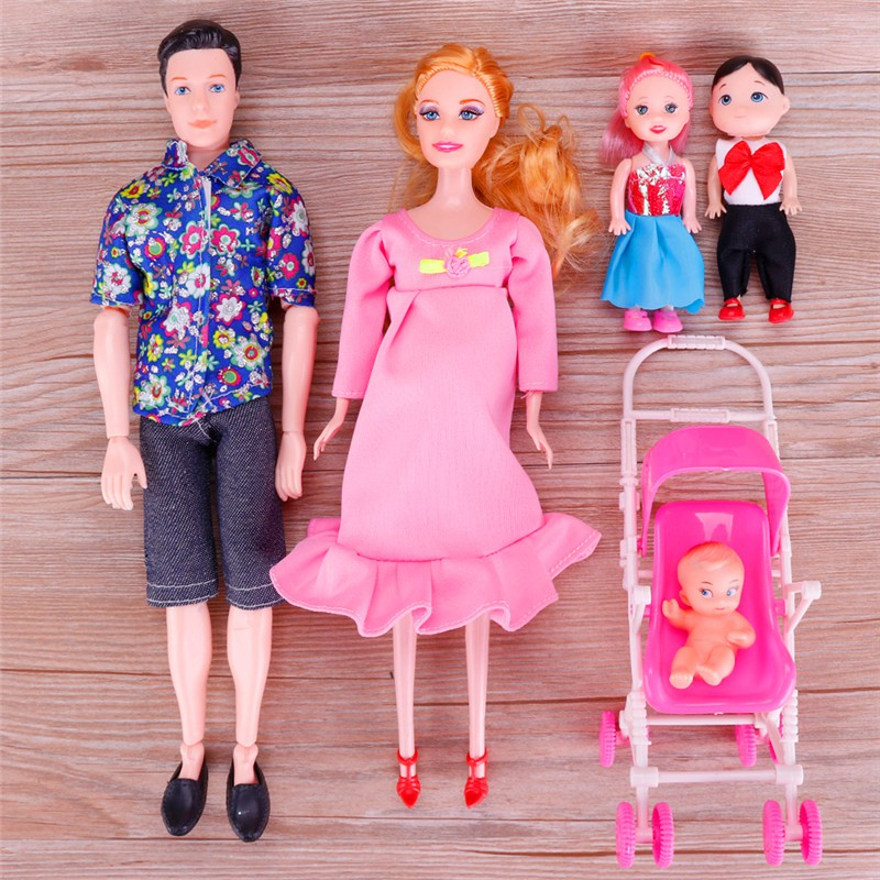 Cod 6pcs Set Boneka Barbie Ibu Hamil Shopee Indonesia