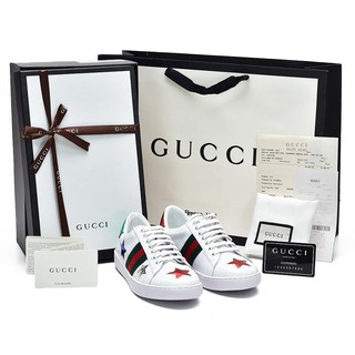 19c365f813e Sepatu Gucci Sneaker Ace Embroidered Multicolor Stars Putih SP454562