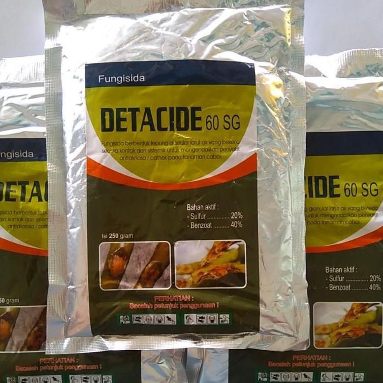 [ART. 44471] DETACIDE 60SG 250gram fungisida kontak sistemik untuk pathek,obat patek antraknosa,busu