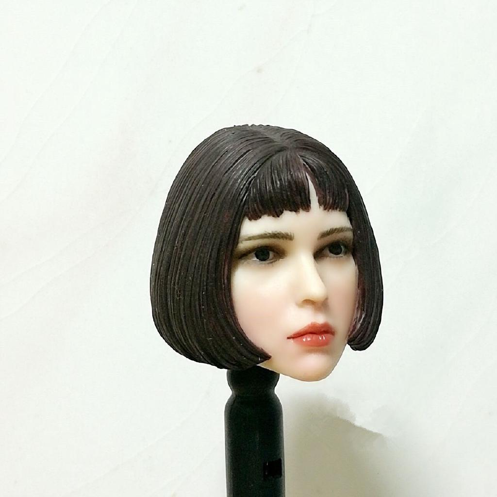 1 6 Natalie Portman Curly Hair Head Model For 12 Female Figure Pale Body Figure