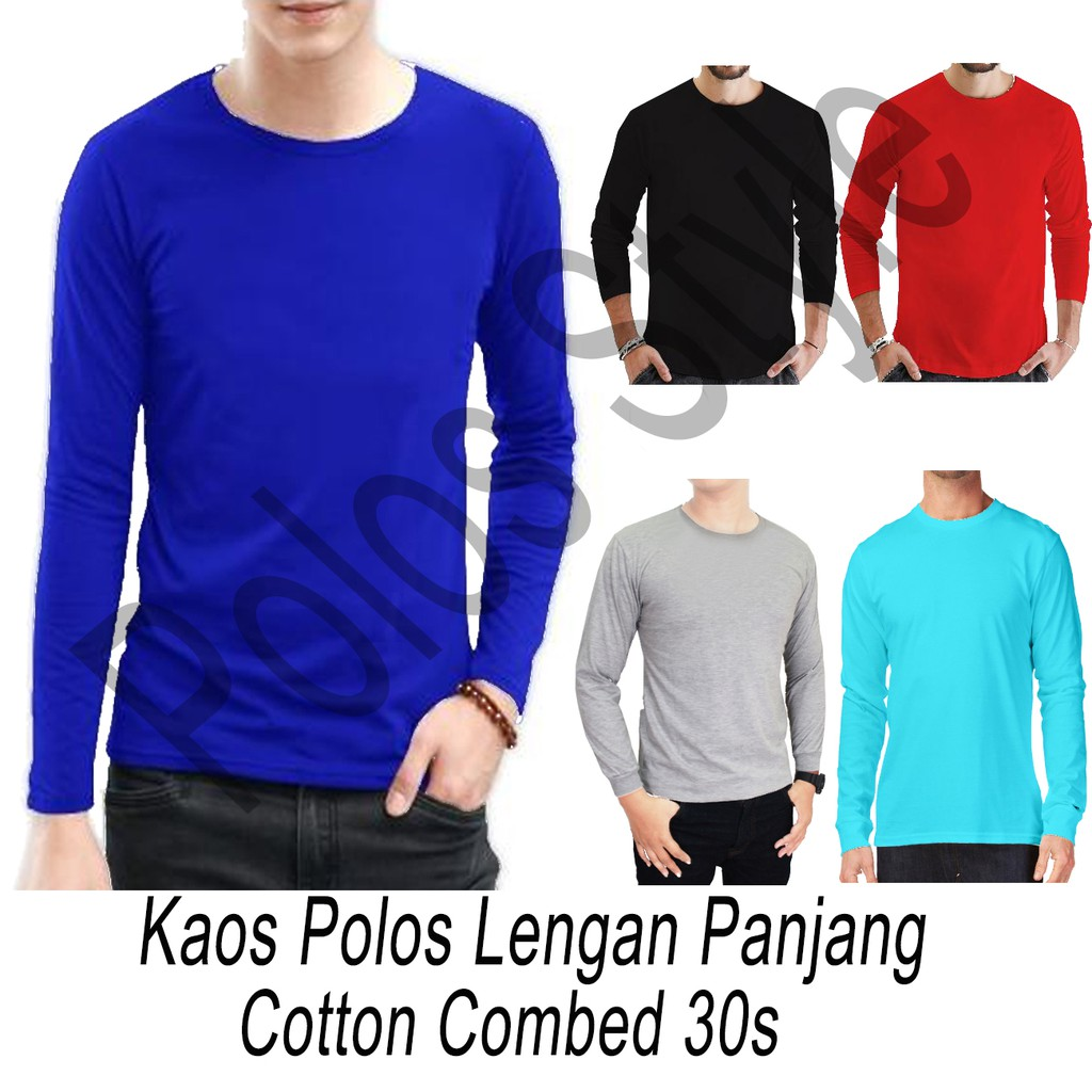 Tempat Jual Kaos Polos Misty Lengan Pendek Oneck 30s Termurah 2018 Blue Twotone Combed Shopee Indonesia