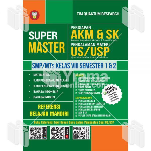Buku Super Master Persiapan Akm Sk Dan Pendalaman Materi Us Usp Smp Mts Kelas 8 Buku Soal Smp Shopee Indonesia