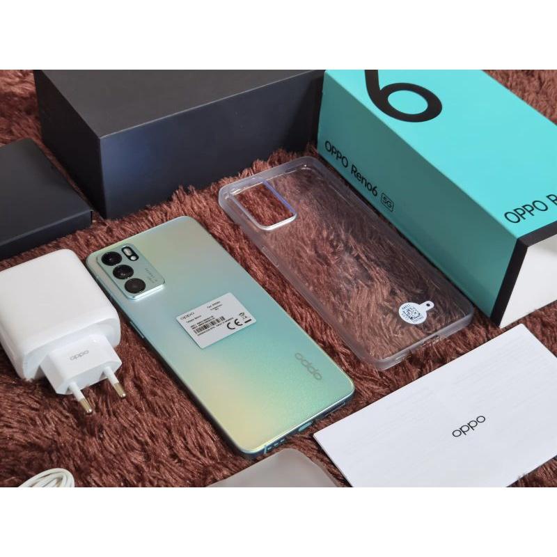 Oppo Reno 6 5G Second 8/128gb Fullset Like New Garansi Utuh 1 Tahun