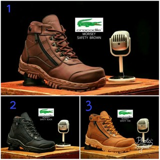 ... Sepatu Boots Pria Crocodille Morisey Safety Trendy Touring-TERMURAH. habis