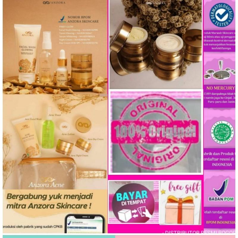 Distributor Resmi Anzora Skincare Paket Glow Paket Acne Paket Oily Aging Glowing Shopee Indonesia