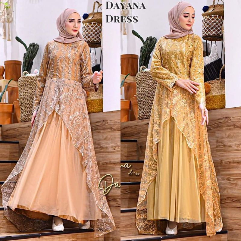 Ready DAYANA DRESS PELANGI JAYA ORIGINAL / DAYANA DRESS KONDANGAN/ DAYANA DRESS / GAMIS
