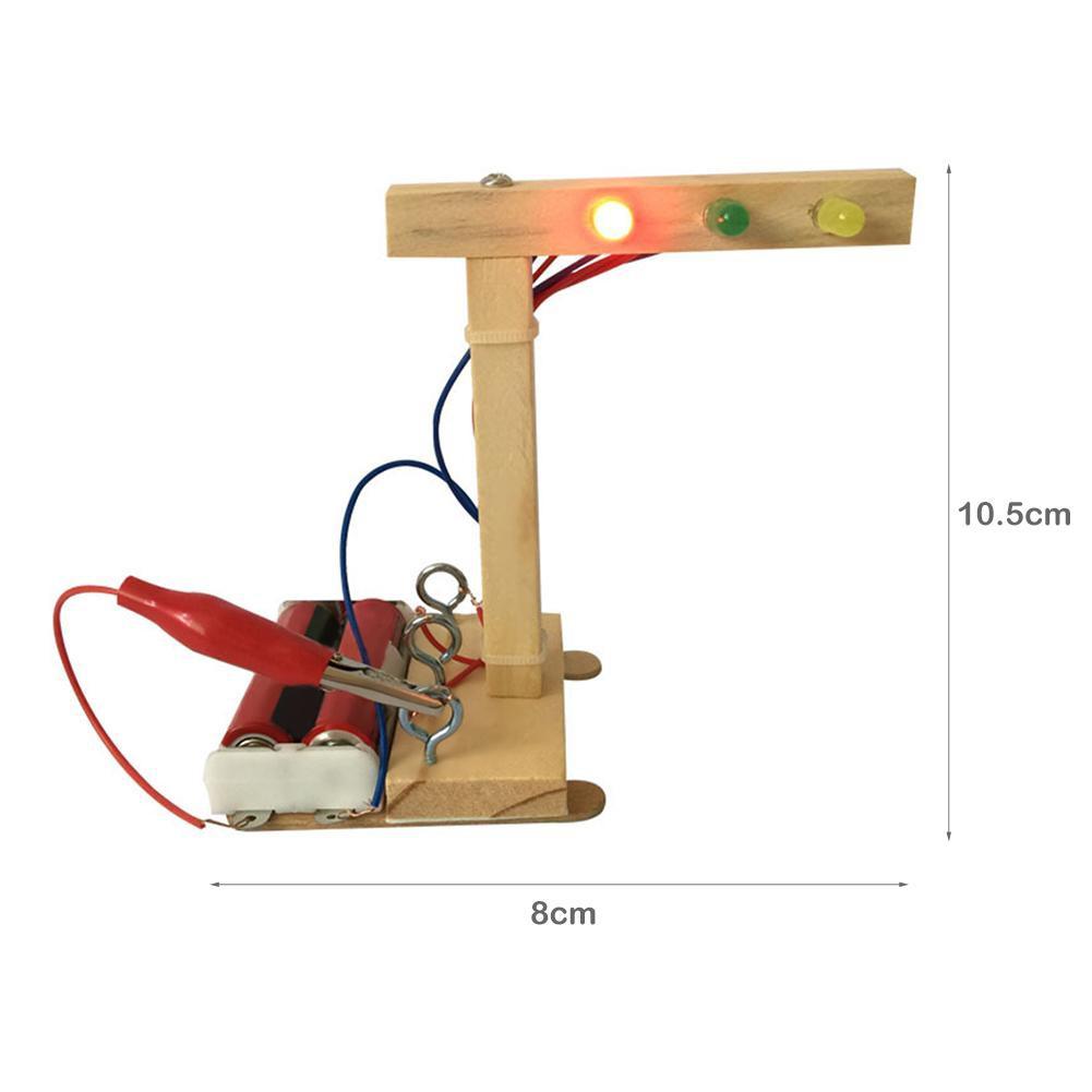 Puzzle Rakit DIY Bentuk Lampu Lalu Lintas Untuk Edukasi