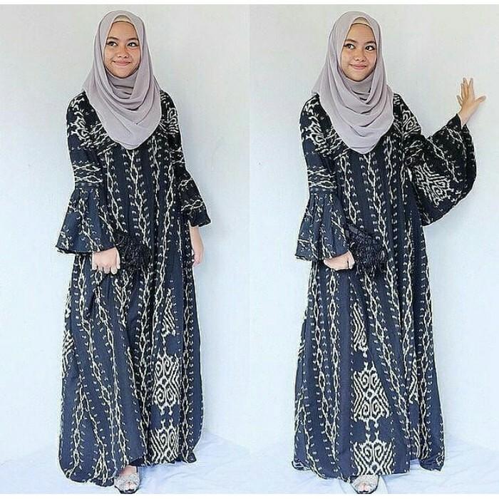 Termurah Gamis Batik Muslimah Tenun Blanket Troso Handmade Modern Shopee Indonesia