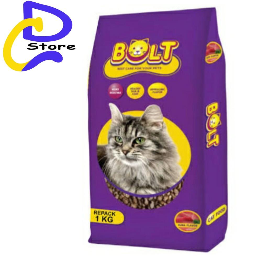 Makanan Kucing Bolt Cat Food Repack 1kg Shopee Indonesia