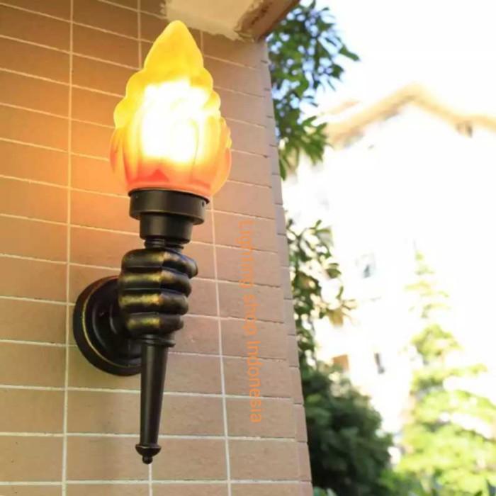 Unik L1001 Lampu Dinding Taman Pilar Waterproof Api Obor Retro Anti Hujan Murah Shopee Indonesia