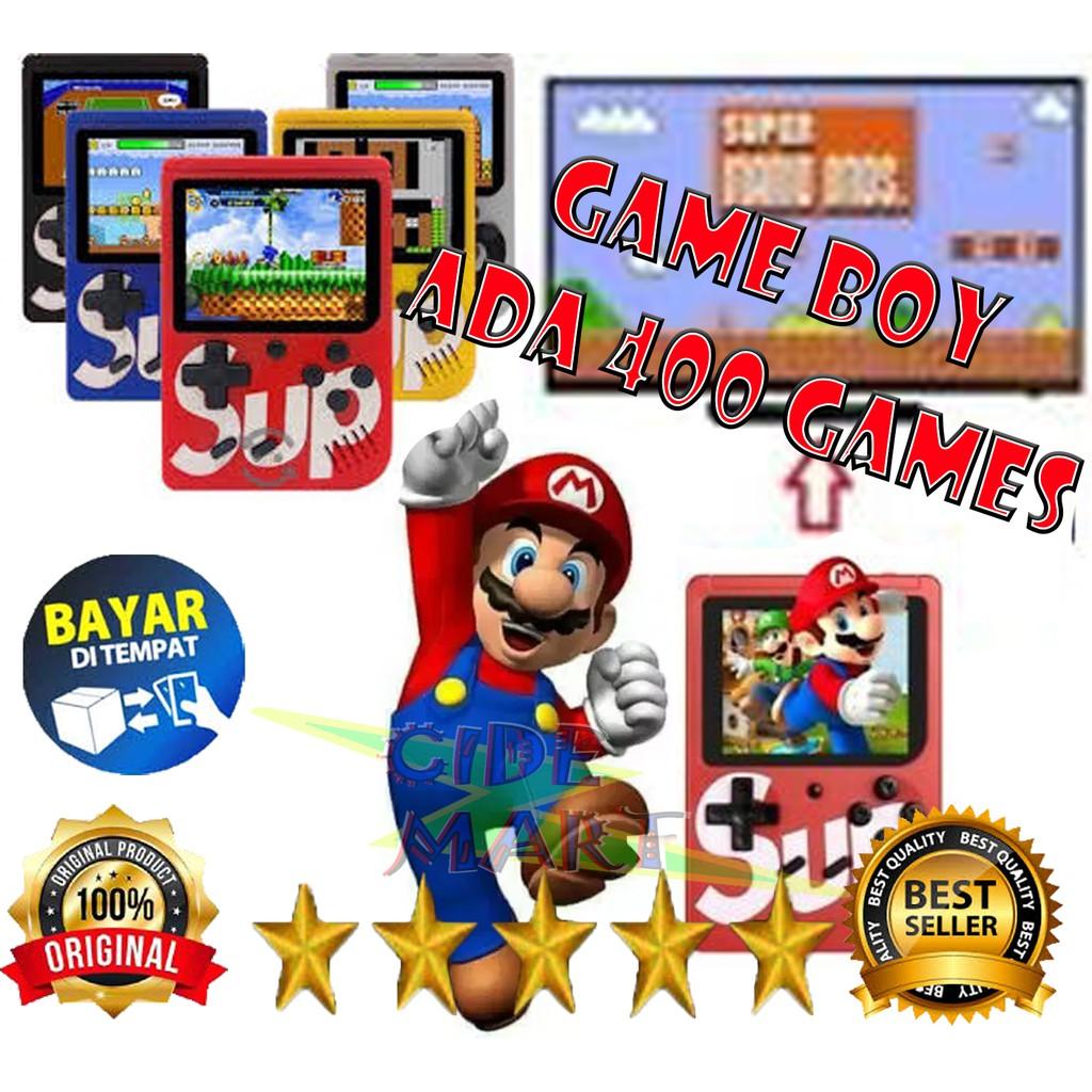 Original Gameboy Super Mario Game Console Game 400 In 1 Retro Fc Classic Shopee Indonesia