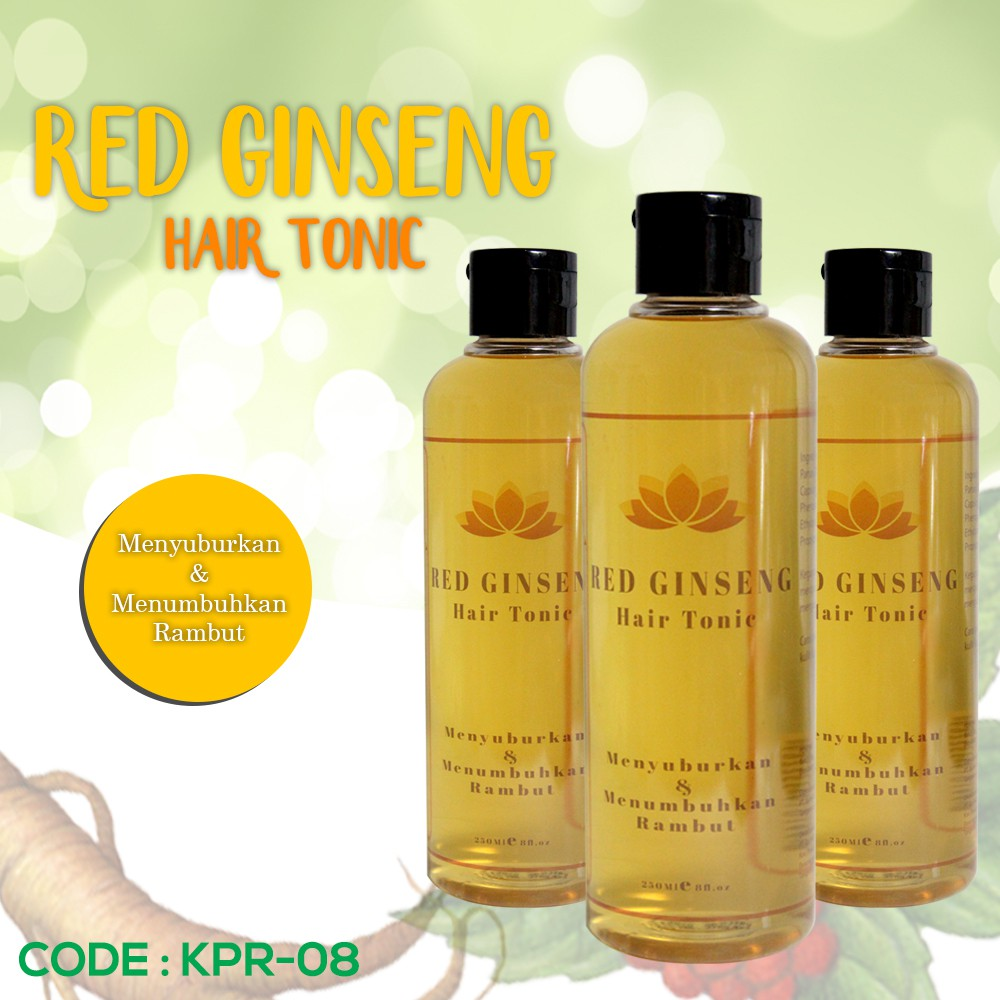 BIO HERBAL RED GINSENG HAIR TONIC ORI / OBAT RAMBUT RONTOK | Shopee Indonesia
