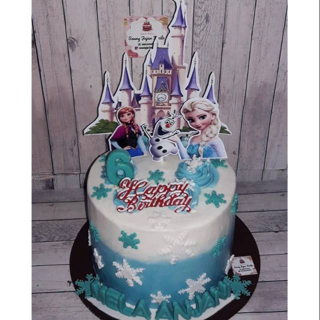 Kue Ulang Tahun Frozen Elsa Blackforest Vanilla