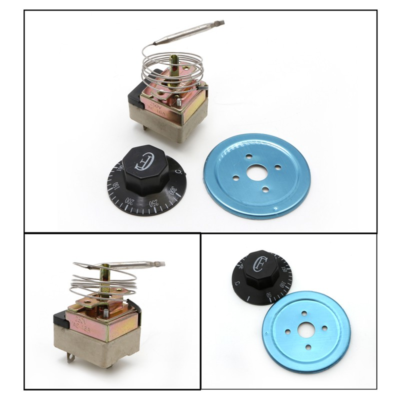 AC 220V 16A Thermostat Temperature Control Switch for Electric Oven 50-300C 、YX