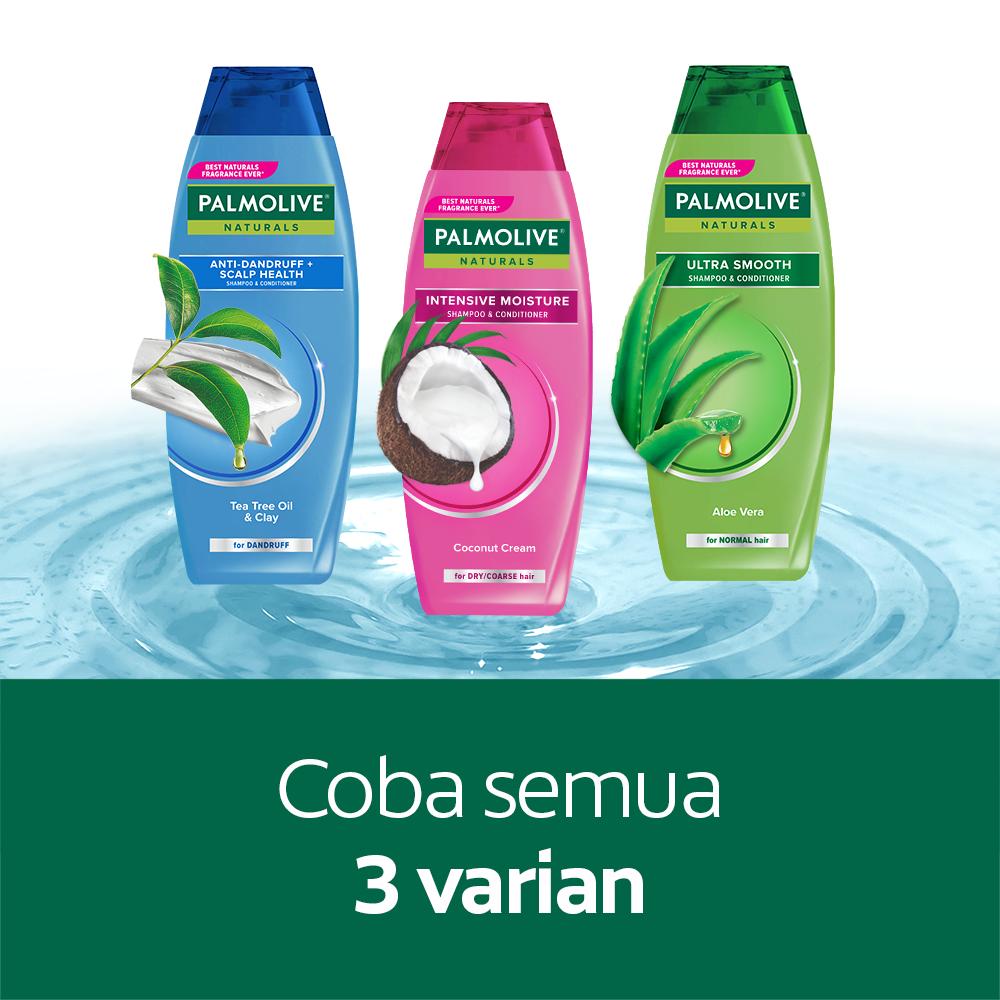 Palmolive Naturals Shampoo & Conditioner Anti Dandruff 180ml - Shampo Kondisioner (4pcs)-7