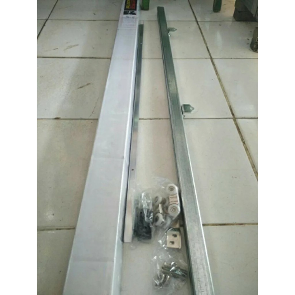 Rel Pintu Geser J3 180cm Soligen Rell Pintu Dorong Sliding J3 180 Cm Shopee Indonesia