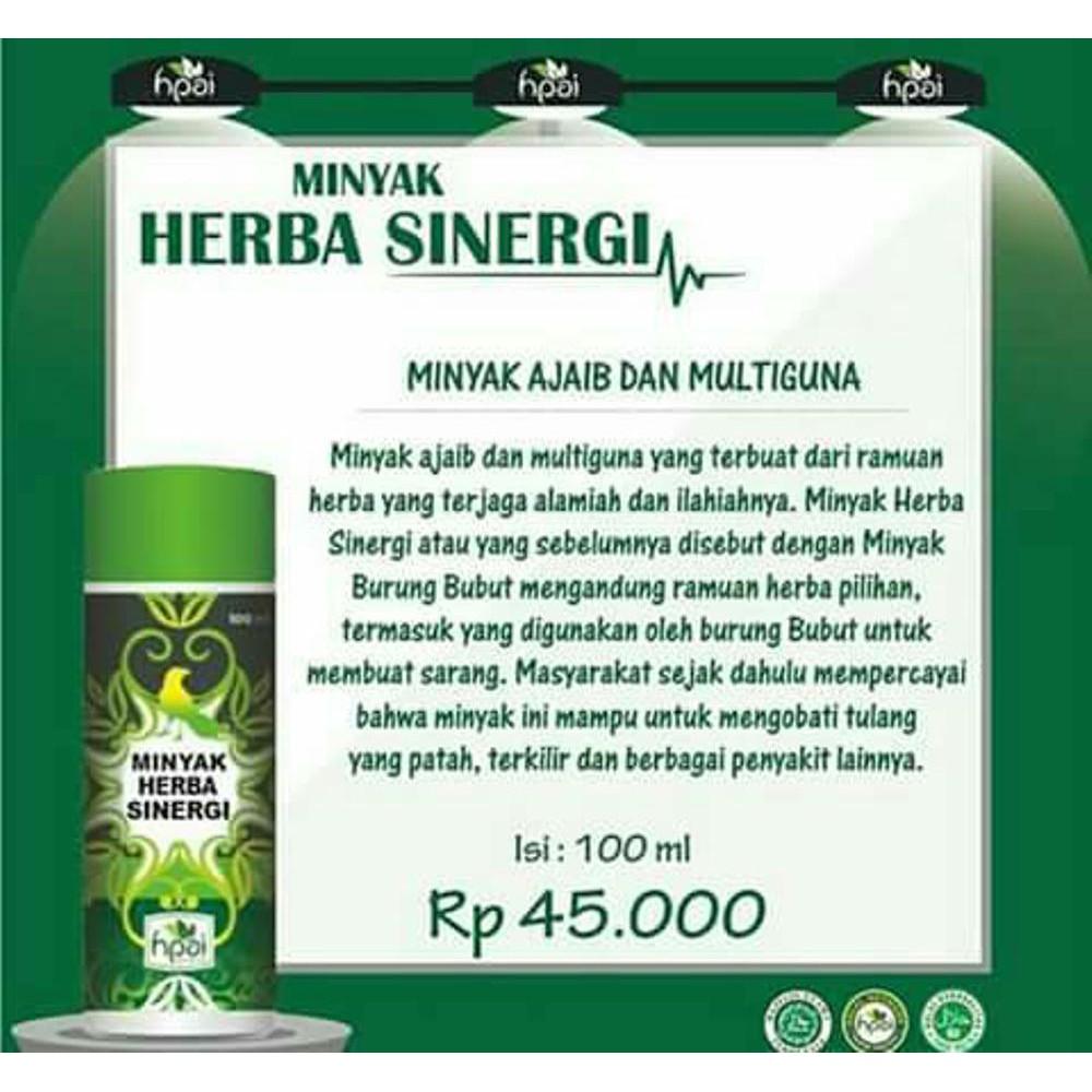 Minyak Herba Sinergi Hpai Shopee Indonesia Burung Bubut