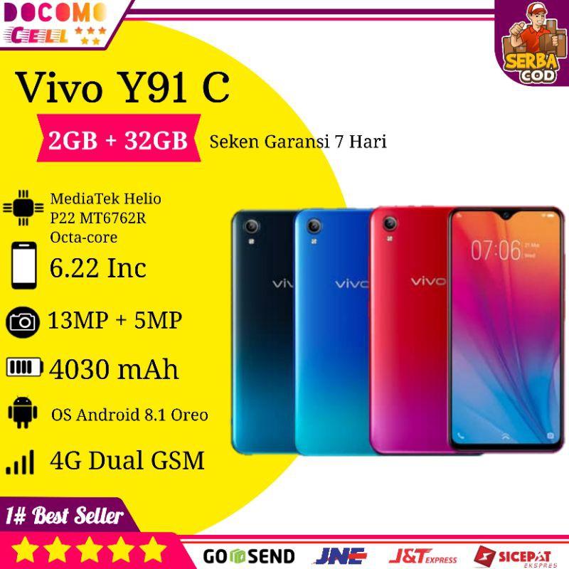 PROMO HP Handphone Vivo Y91C Y91 C Android 4G Second Seken Gaming Murah Ram Besar 2GB COD Terlaris