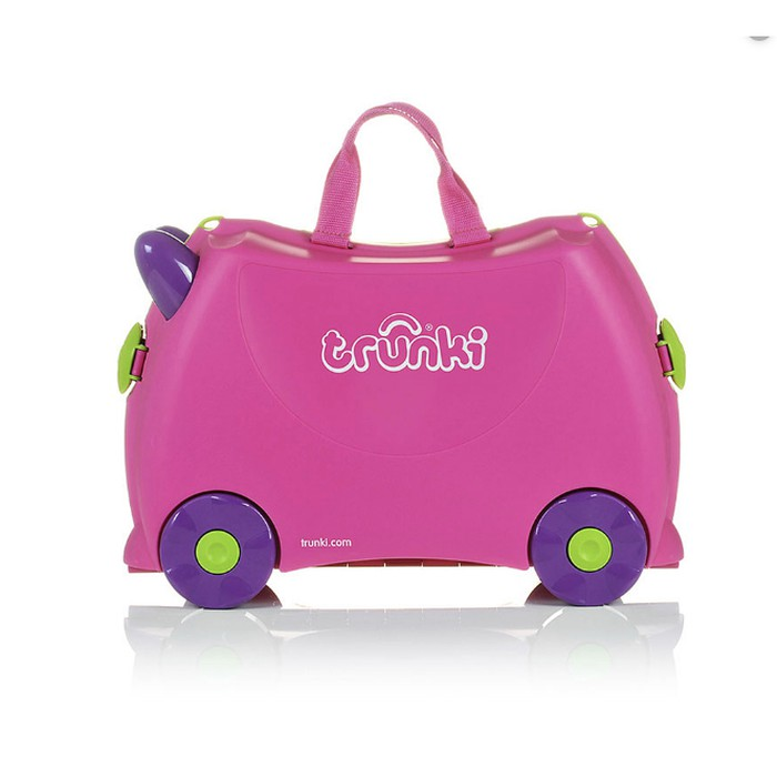 Trunki Children's Ride-On Suitcase /& Kid/'s Hand Luggage Trixie Pink