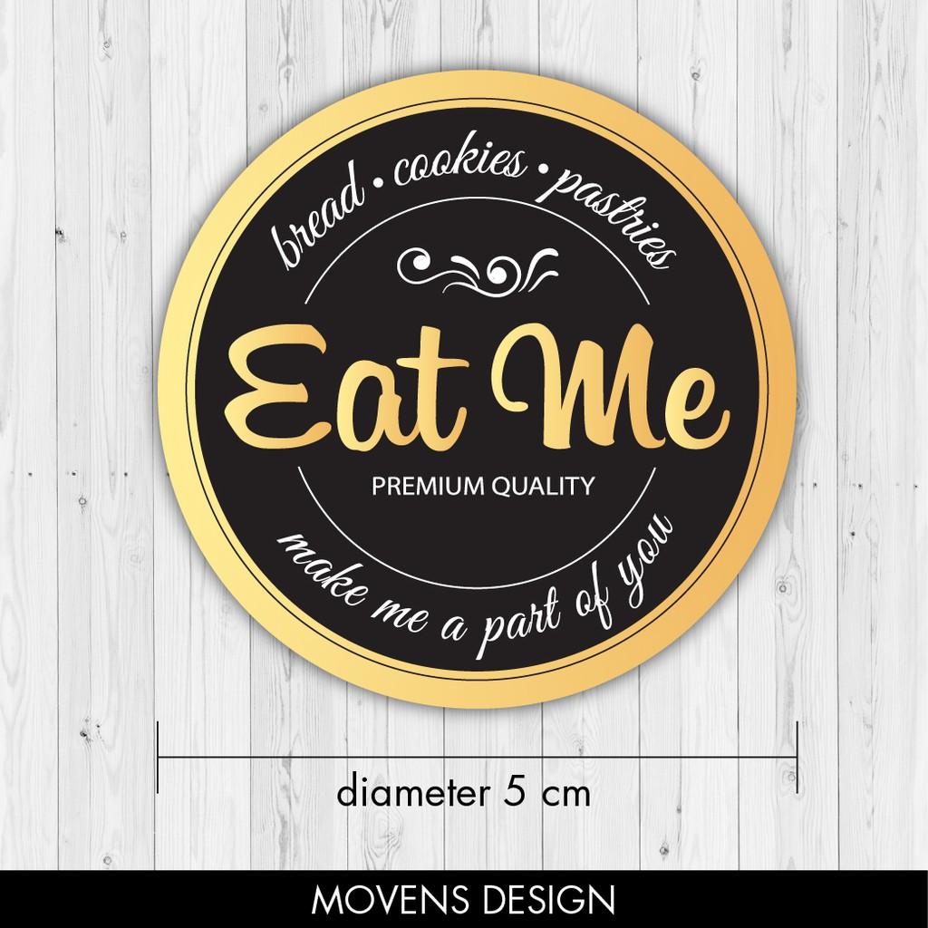 Cetak Label Sticker Makanan / Minuman / Kemasan / Botol / kue