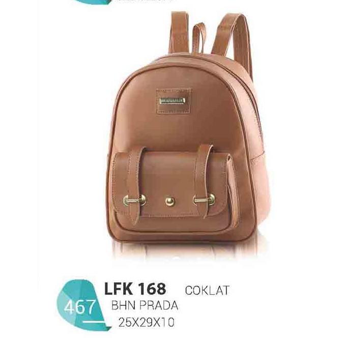 Tas Backpack Casual Wanita Bahan Prada Warna LFK 168 Merek Blackkelly  Bandung f27e8ed0d3
