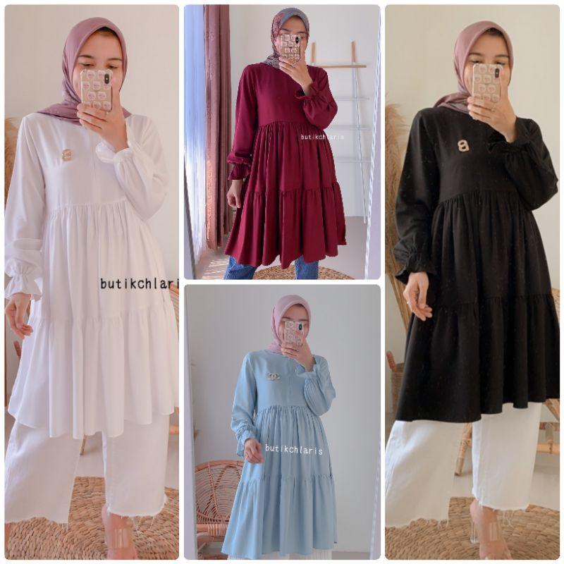 Plain Tunic Tunik by Butik Chlaris Butikchlaris