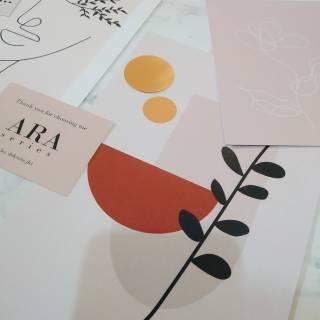 "poster hiasan dinding aesthetic set ""ara series""   shopee"