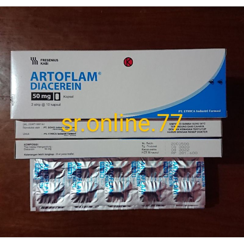 Art0flam Diacerein 50 Mg Artrodar 1 Box Isi 30 Kapsul Shopee Indonesia