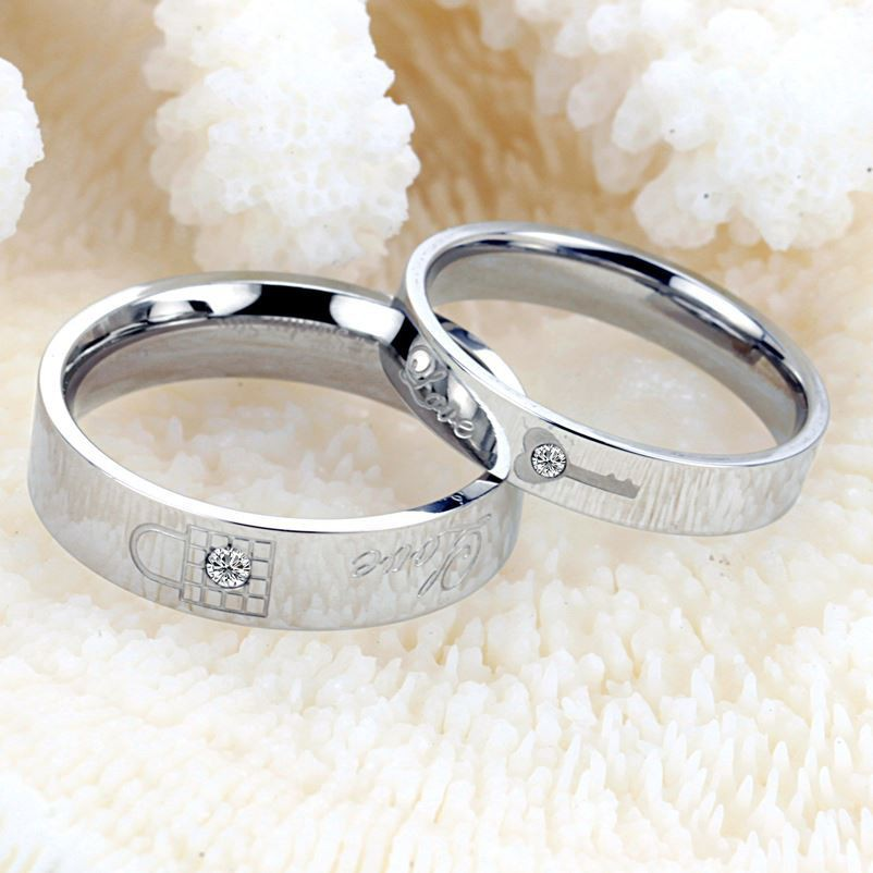Promo Perhiasan CINCIN ALOY CHROME DAN TITANIUM SUPER REQUEST PASANG RING CINCIN Murah   Shopee Indonesia