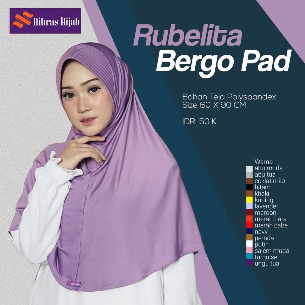 Nibras Hijab Rubelita Bergo Pad Hijab Instan Hijab Spandek Polos Shopee Indonesia