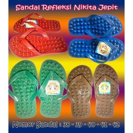 Sandal Jepit Refleksi Akupuntur Acupunture MassagePijat Totol Kecil   Shopee Indonesia