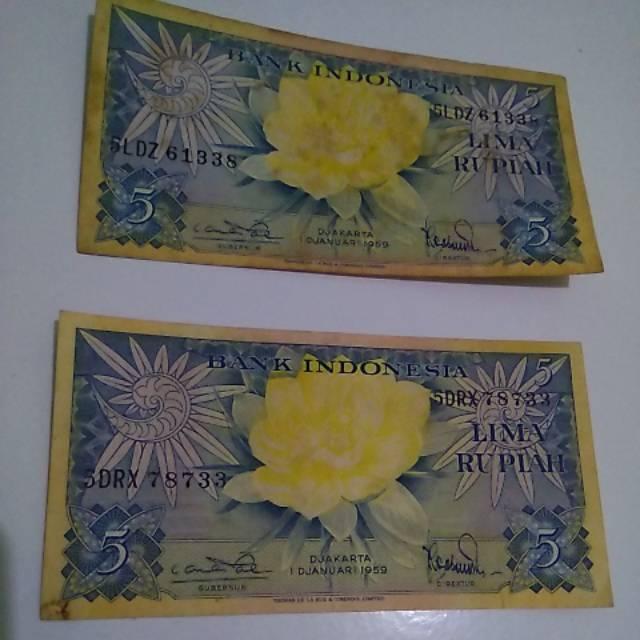 Uang Lama Indonesia 5 Rupiah Tahun 1959