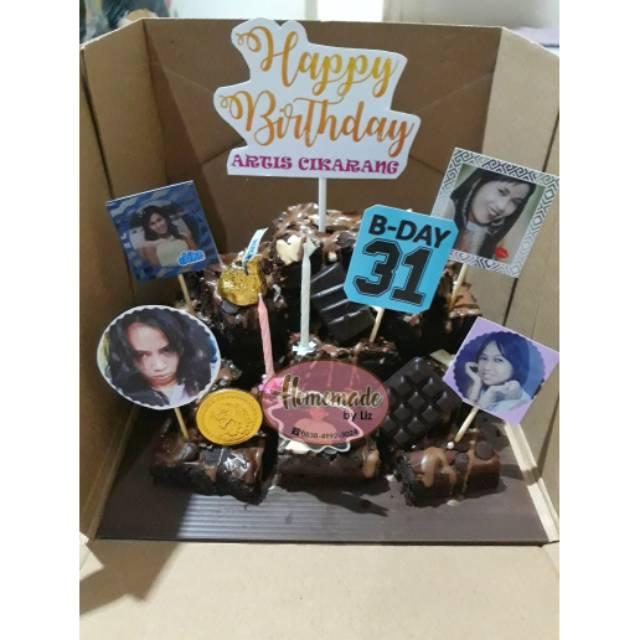 Brownies ulang tahun / brownies susun