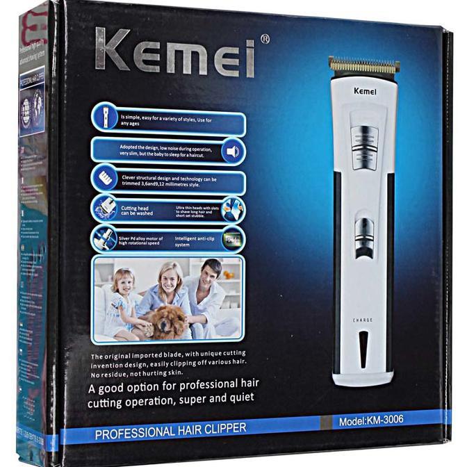 Alat cukur bayi dan dewasa Kemei Alat Cukur baterai charge Hair Clipper KM-3006  Lengkap b8098745be