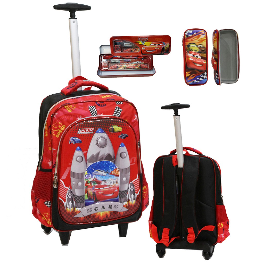 NEW Tas Anak Sekolah Baru - Trolley SD Import BUS TAYO Apolo 6D Timbul 2KT - SD   Shopee Indonesia