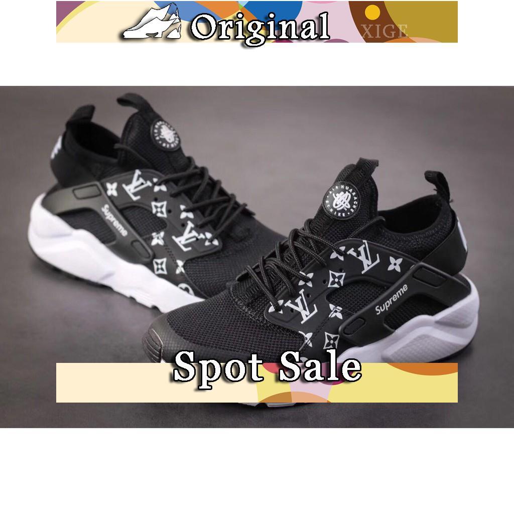 Sepatu Sneakers Desain Nike Air Huarache x X Supreme Warna Hitam Ukuran  36-45 untuk Pria   Wanita  dadd95857c