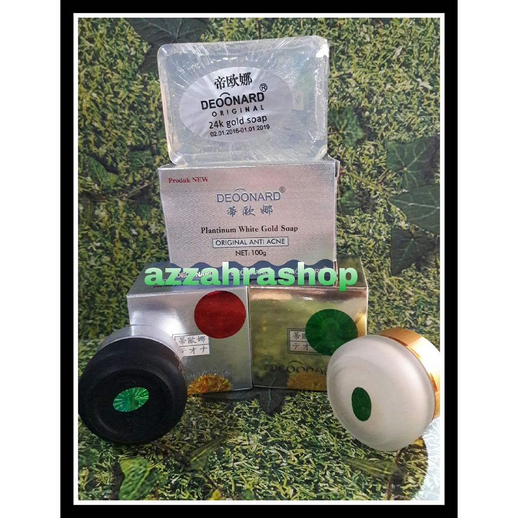 Cream Deonard Paket Deoonard Blue 7 Days Siang Malam Sabun Hari Pemutih Wajah Alami Original Herbal Shopee Indonesia
