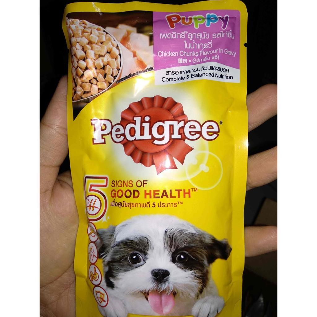 Makanan Anjing Pedigree Puppy Chicken Chunks Flavour Wet Food 130 Gr Dry 480gr Kering Rasa Egg Pouch Beef Adult Gram 130gram Shopee Indonesia