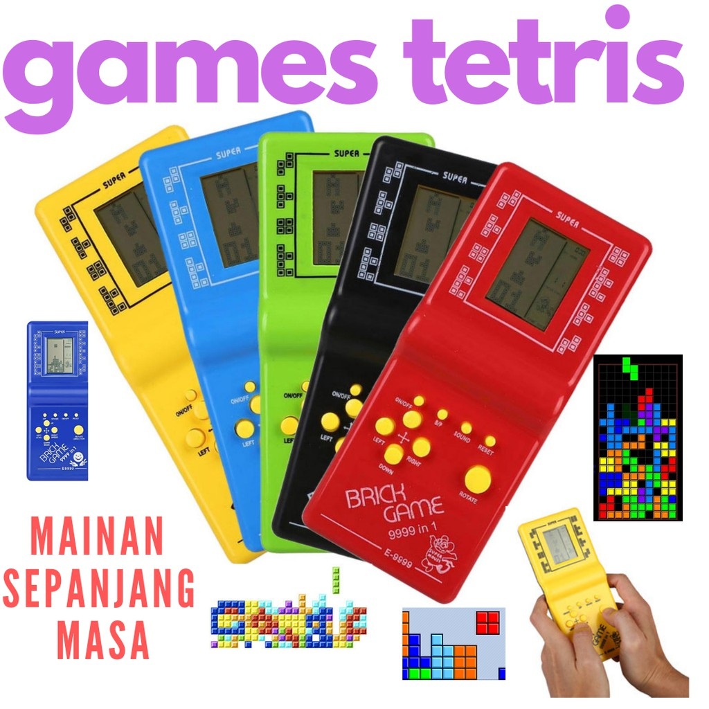 Game Tetris Mainan Jadul Tahun 90an Brick Game Shopee Indonesia