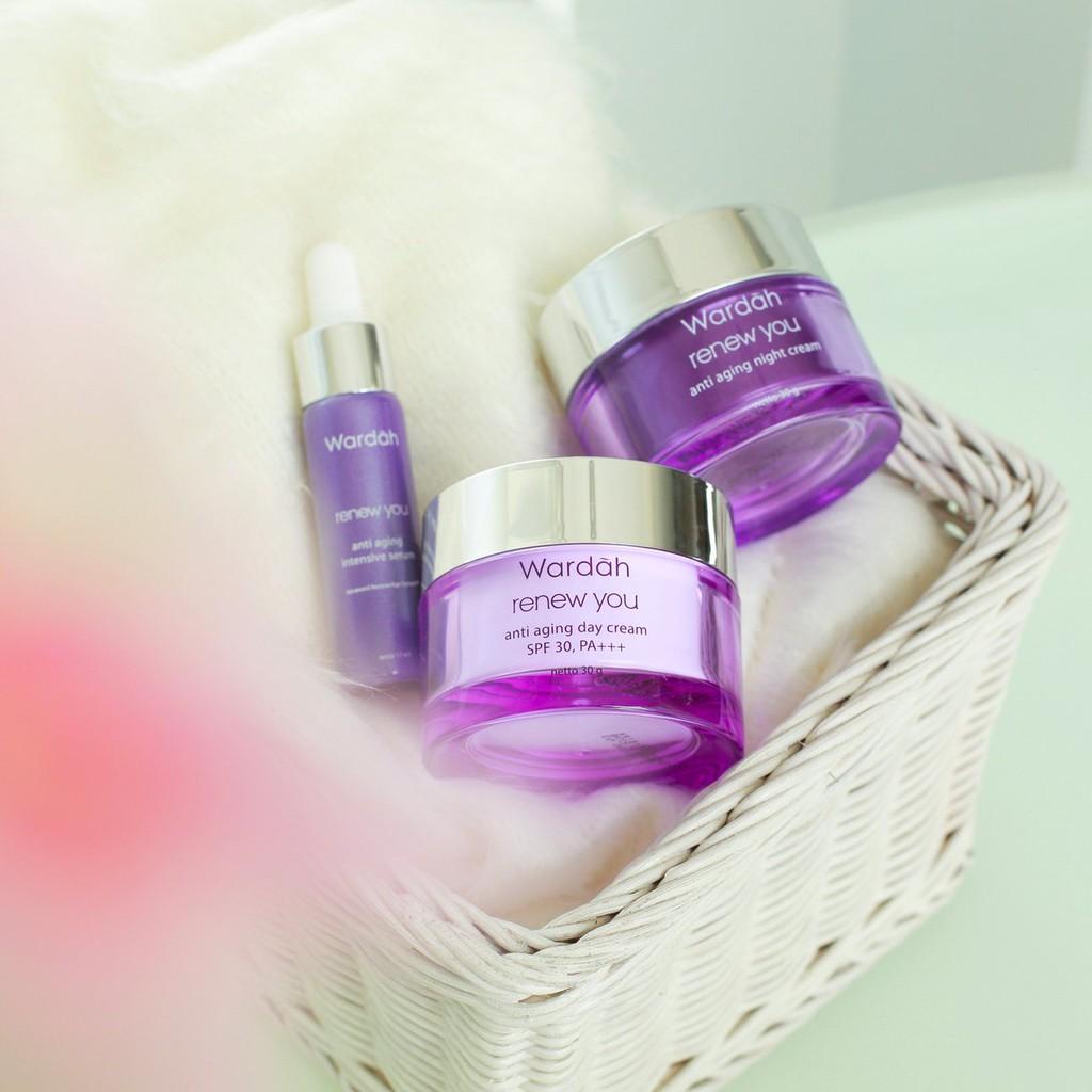Wardah Renew You Night Cream Anti Aging 30 Gr Shopee Indonesia G