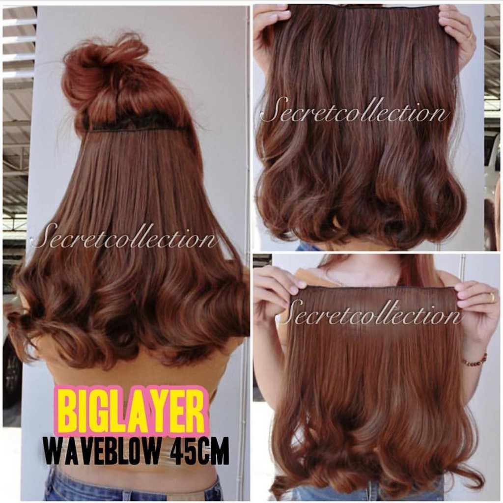 Hairclip Biglayer 7revolution Shopee Indonesia Lurus Curly Wavy