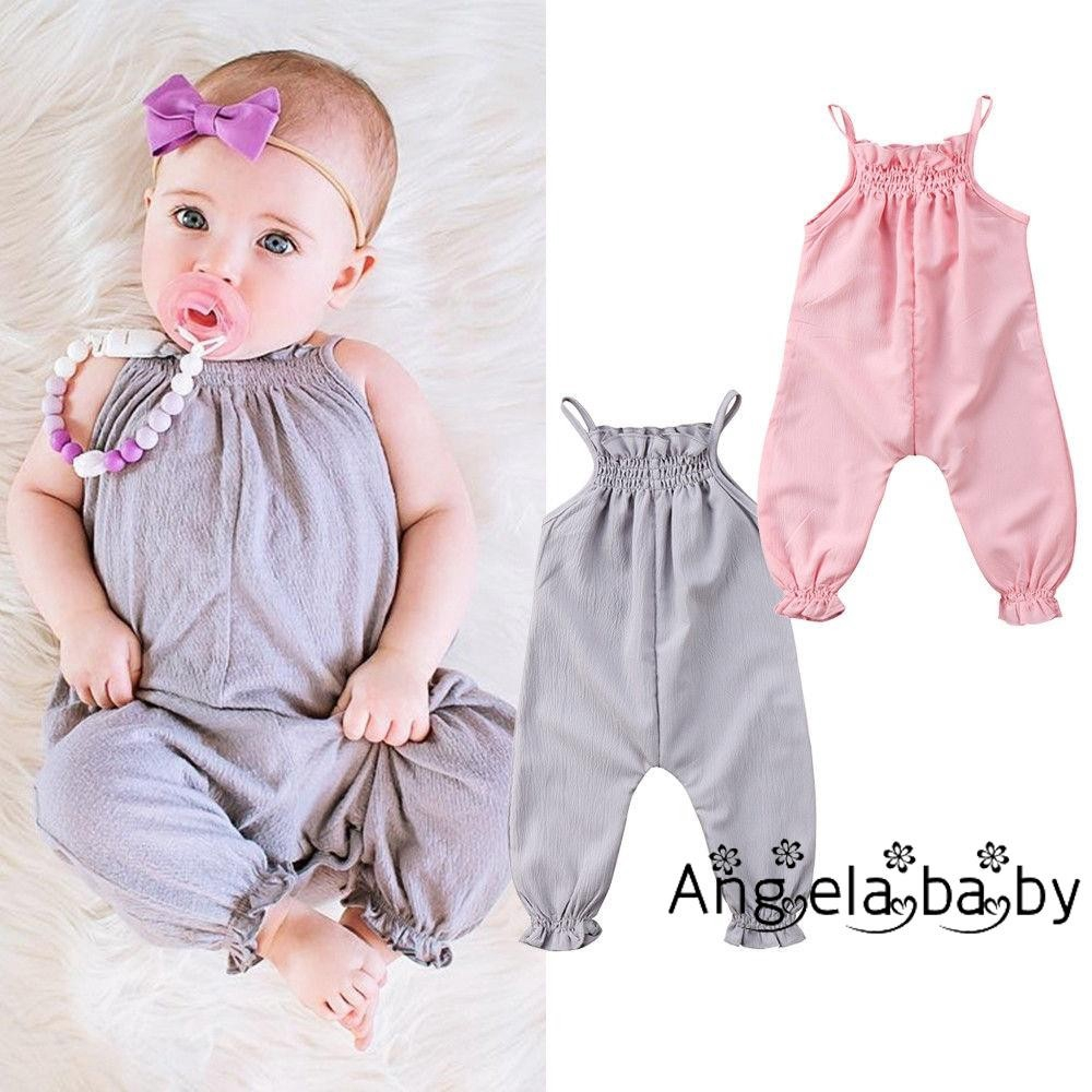 Baby Rompers Toddler Kid Girls Floral Bodysuit Jumpsuit Playsuit Outfits Clothes