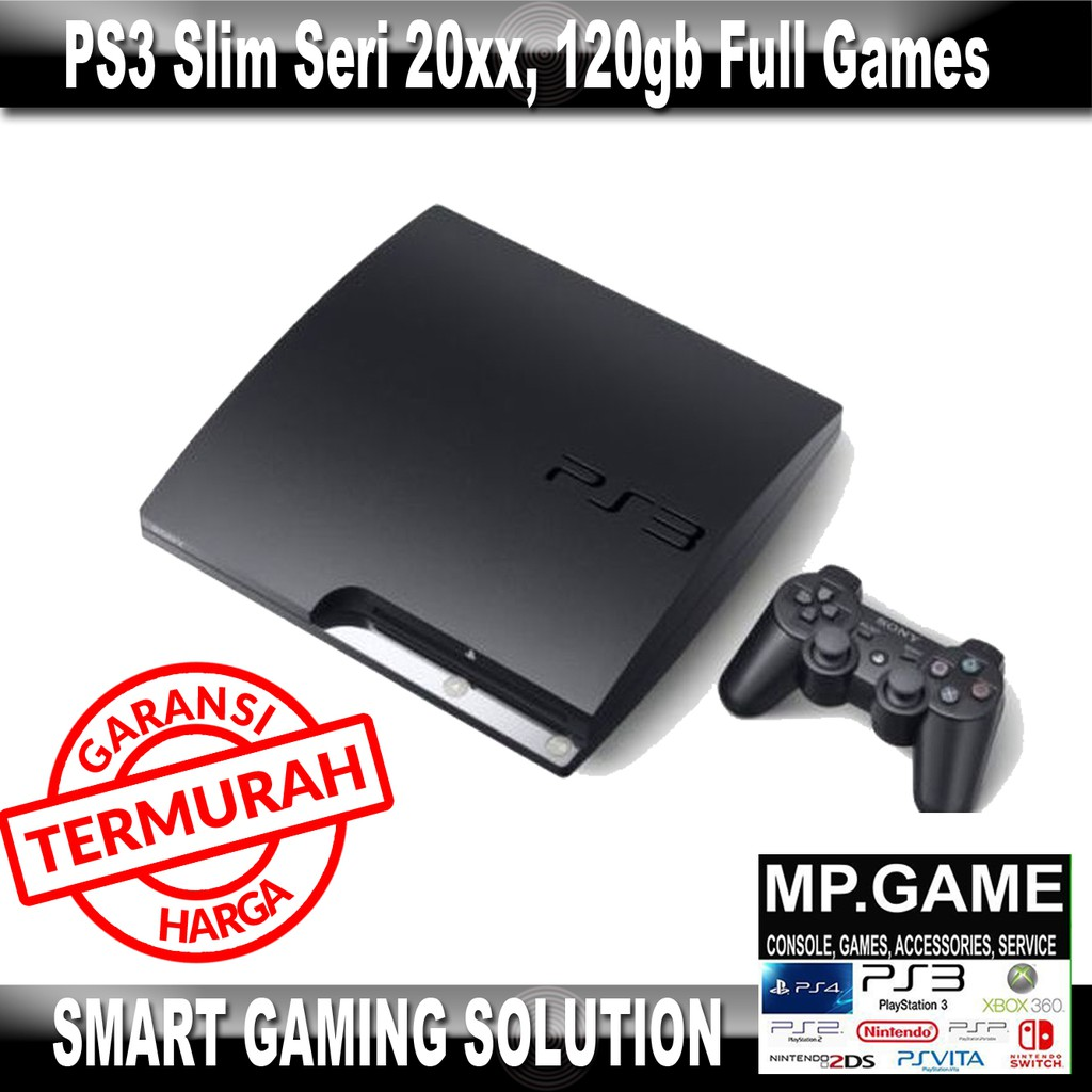 Sony Ps3 Slim 120gb Cfw Seri25xx 2 Stick Wirelles Op Silicon Ps 3 Refurbish 20xxx 480 Hdd 500gb External