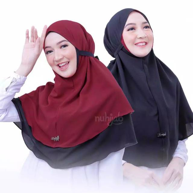 Hijab Instant Bergo Maryam Bb Bolak Balik Motif Bobal Jilbab Instan Tali Muka Ceruti Khimar Karanggo Shopee Indonesia