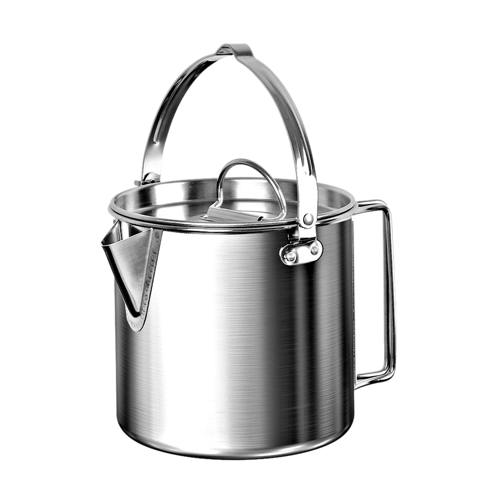 Outdoor Camping Kettle Stainless Steel Cooking Kettle 1 2l Lightweight Compact Camping Pot For Hiking Backpacking Picnic Shopee Indonesia