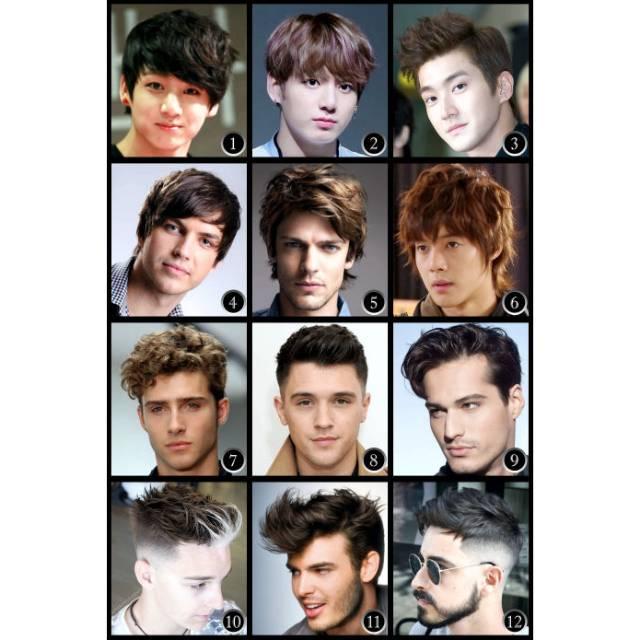 Poster Model Potong Rambut Barbershop Pria Shopee Indonesia