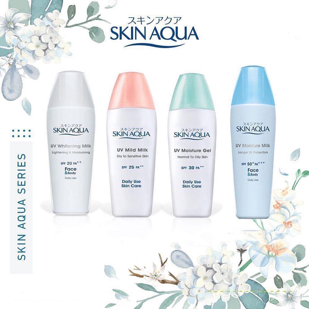 Skin Aqua Sunscreen UV Moisture / Milk Series SPF 50 30 ...