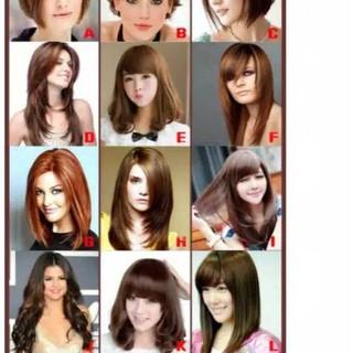 Poster Model Potong Rambut Wanita A3 Dan Laminasi Glossy Shopee Indonesia