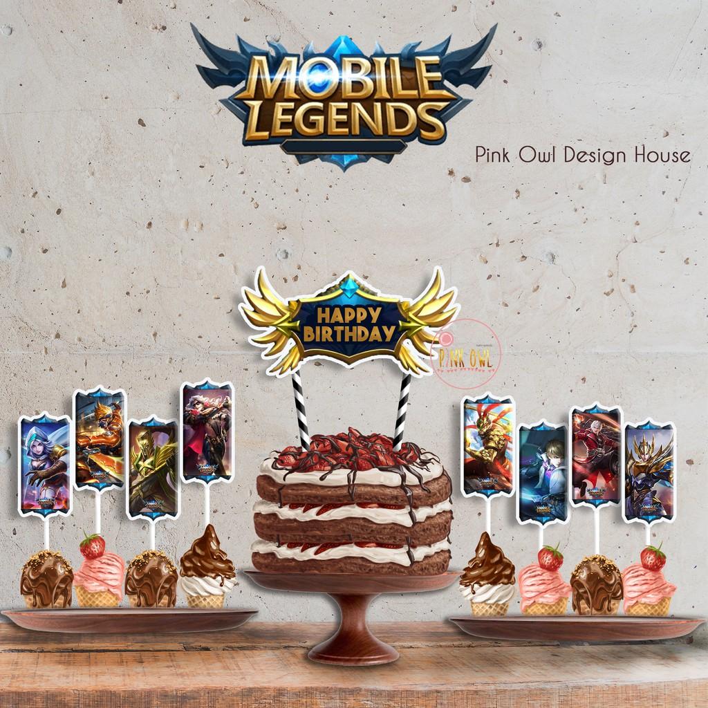 58 Gambar Kue Ultah Mobile Legends Terbaru