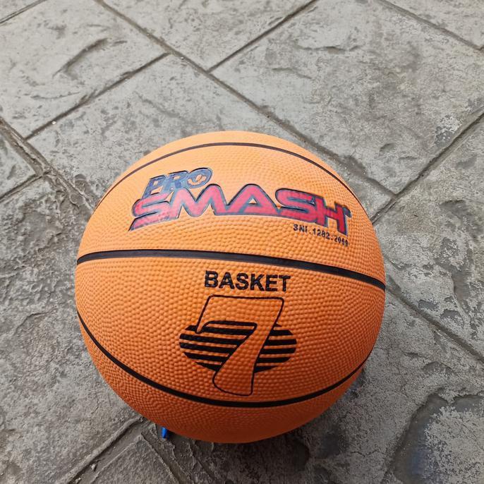 Cuci Gudang bola basket outdoor✿ Bola Basket Pro Smash Orange Size 7 BolaBasketTerbaik